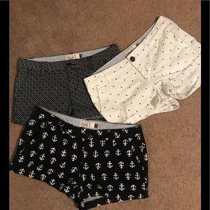 Cute!! (3) pair of So cuffed shorts!
